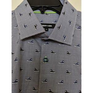 Jared Lang Dot Sneaker Sport Shirt - Sz XL - NWOT